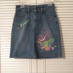 Disney store jean skirt